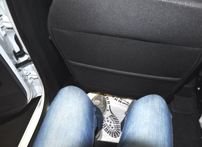 Расстояние между передними и задними сиденьями на Лада Веста