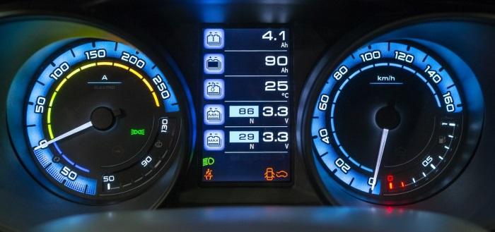Lada Vesta EV: спидометр
