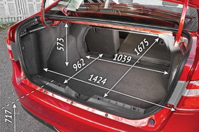 Объем багажника и размеры на Лада Веста седан
