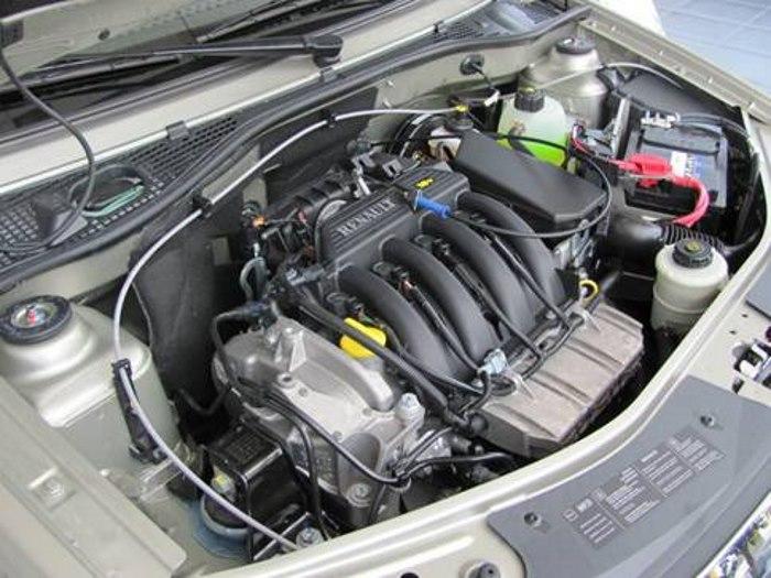 Двигатель 1, 6 на Рено Логан2