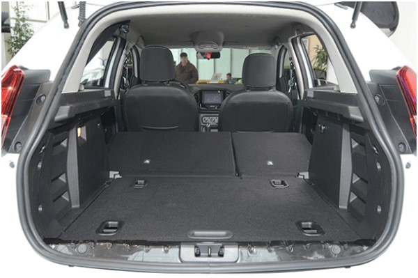 Багажник Лада Икс Рей со сложенными спинками задний сидений