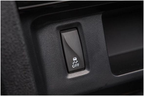 Кнопка ESP на панели приборов Лада Икс Рей