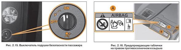 Выключатель подушки безопасности на Лада Икс Рей