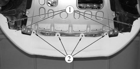Снятие нижней части переднего бампера Лады Веста