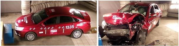 Краш тест седана Lada Vesta