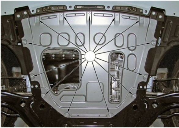 Замена штатной защиты картера Lada Vesta