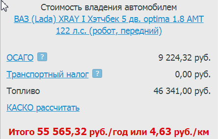 стоимость владения Xray калькулятор